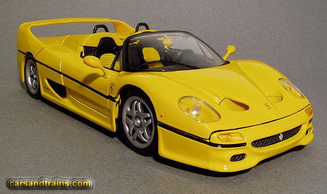 cast King Maisto Ferrari F50 Spider Yellow