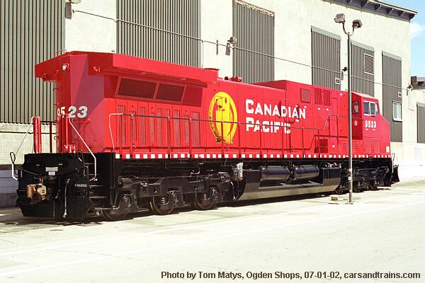 CP Rail AC4400 9523 at Ogden